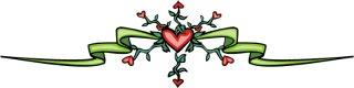 heart ribbon divider